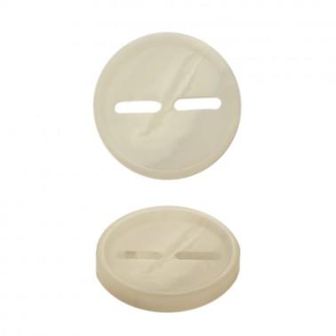 Пуговица пластик, 44L, цвет белый