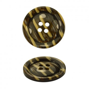 Пуговица пластиковая, 28L, цвет коричневый