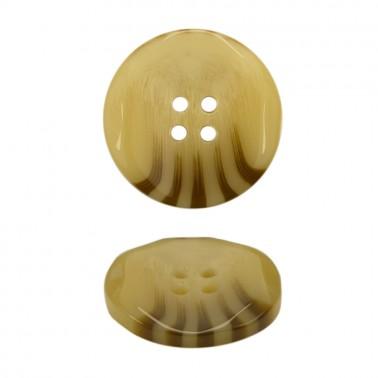 Пуговица пластиковая, 28L, цвет светло-коричневый