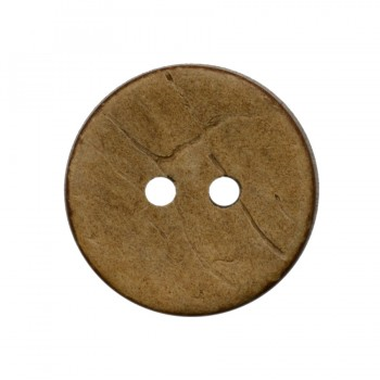 Пуговица из натуральных материалов, кокос, 60L, цвет бежевый, 2 прокола