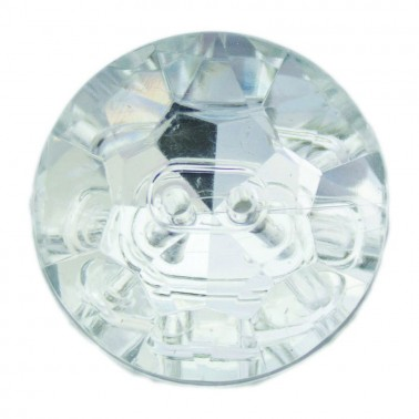 Пуговица-страза пластиковая, 48L, цвет зеркальный, 2 прокола