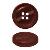 Пуговица пластиковая, 24L, цвет бордо, 4 прокола