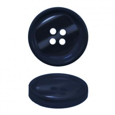 Пуговица пластиковая, 40L, цвет темно-синий, 4 прокола