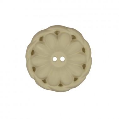 Пуговица пластиковая, 52L, цвет белый, 2 прокола