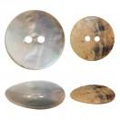 Пуговица из натуральных материалов, ракушка, 28L, цвет перламутр, 2 прокола