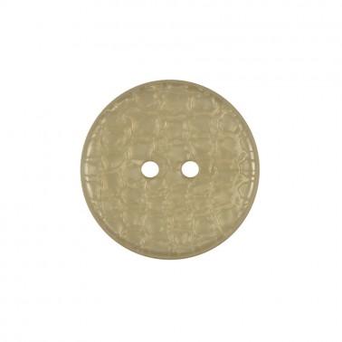 Пуговица пластиковая, 36L, цвет белый перл., 2 прокола