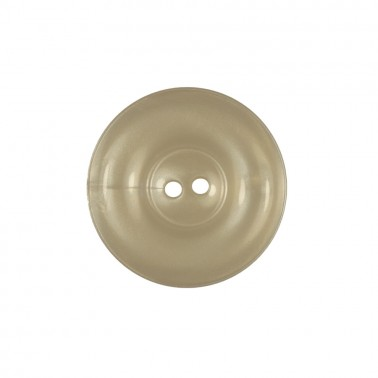Пуговица пластиковая, 24L, цвет белый перл., 2 прокола