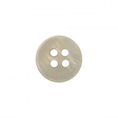 Пуговица из натуральных материалов, ракушка, 18L, цвет перламутр, 4 прокола