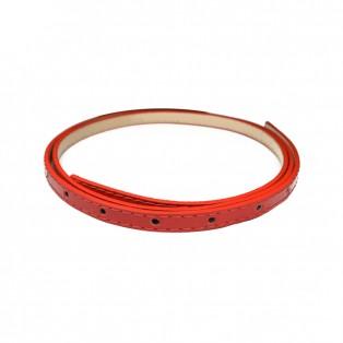 Полотно для ремня и/к,  длина 110см, ширина 1см, цвет красный лак