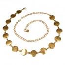 Ремень женский металлический,  длина 115см с цепочкой, 60см без цепочки, ширина 2,3см, цвет золото