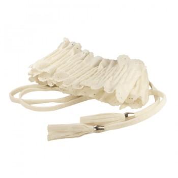 Ремень женский резинка резной,  длина 65см, ширина 4,8см, цвет белый