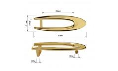 Пряжка на ремень 1.25см овальная