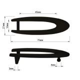 Пряжка на ремень 1.25см овальная, цвет черный тач