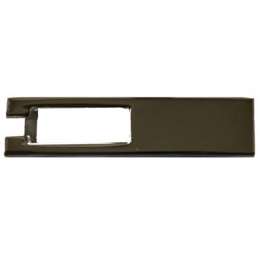 Пряжка на ремень 1.0см прямоугольная, цвет никель