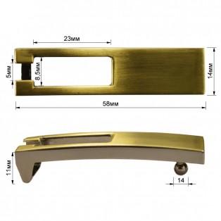 Пряжка на ремень 1.1см прямоугольная, цвет тертый антик