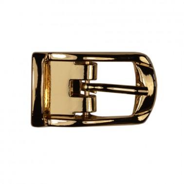Пряжка на ремень 1.25см метал.с зажимом, цвет золото