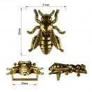 Пряжка на ремень 2,7см пчела, цвет черненое золото