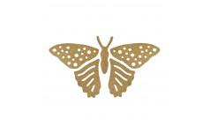 Аппликация термоклеевая Сваровски (большая золотая бабочка)