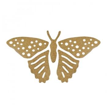 Аппликация термоклеевая Сваровски, большая бабочка, цвет золото