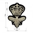 Аппликация клеевая, вышивка текстильная, корона, цвет серебро