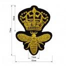 Аппликация клеевая, вышивка текстильная, корона, цвет золото