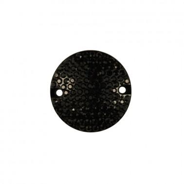 Страза пришивная, 24мм, цвет черный