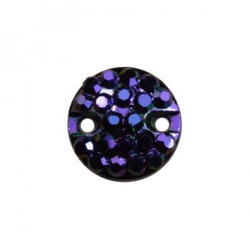 Страза пришивная, 8мм, цвет фиолетовый+хамелеон
