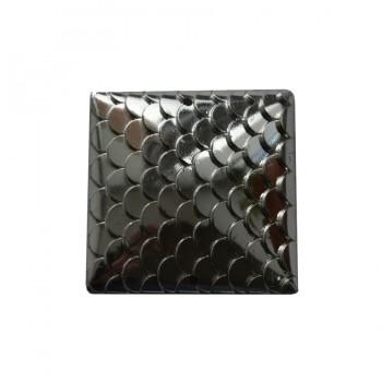 Страза пришивная, 30*30мм, цвет никель