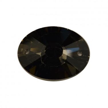 Страза пришивная, 32*23мм, цвет черная