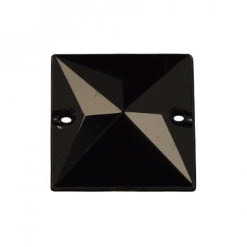 Страза пришивная, 15*15мм, цвет черный