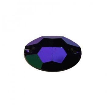 Страза пришивная, 18*25мм, цвет темно-синий
