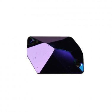 Страза пришивная, 21-26мм, цвет темно-синий
