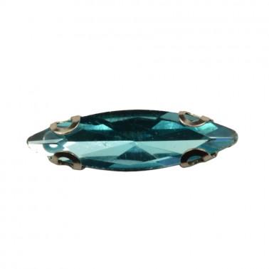 Страза пришивная, 4*15мм, цвет  голубой