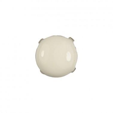 Страза пришивная, 8мм, белая заливка