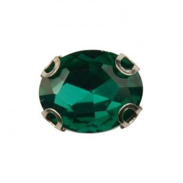 Страза пришивная, 8*10мм, цвет зеленый