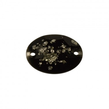 Страза пришивная, 11*16мм, цвет черно-белый