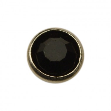 Страза пришивная, цвет черный+никель