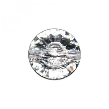 Страза пришивная Сваровски, 14мм, цвет белый+низ гематит