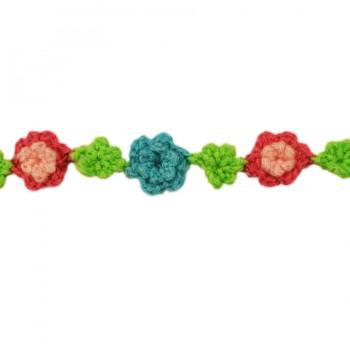 Тесьма декоративная вязанная, цвет разноцветный