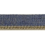 Тесьма декоративная c цепочкой цвет синий+никель