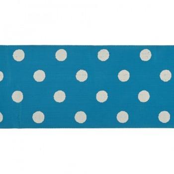 Тесьма декоративная, цвет голубой+белый