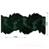 Кружево бархат, цвет зеленый