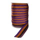 Лента отделочная с люрексом, цвет сиреневый+черный+оранжевый+фиолетовый
