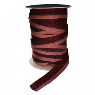 Лента отделочная с люрексом, цвет красный+фиолетовый+розовый