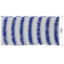 Тесьма отделочная c люрексом, цвет белый+синий
