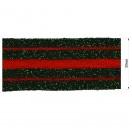 Тесьма отделочная c люрексом, цвет красный+зеленый