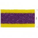 Тесьма отделочная c люрексом, цвет желтый+фиолетовый