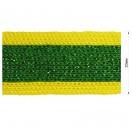 Тесьма отделочная c люрексом, цвет желтый+зеленый
