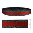 Тесьма отделочная c люрексом, цвет серый+красный