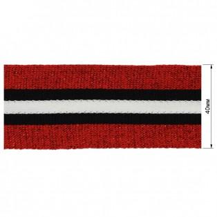 Теьма отделочная c люрексом, цвет красный+черный+белый
